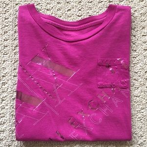 Armani Exchange Pink Short Sleeve Tee